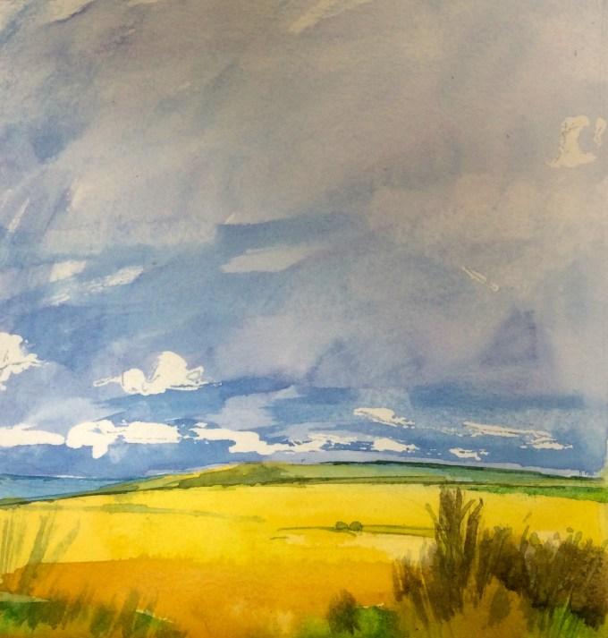 Watercolour, 17.3 x17.8 cm