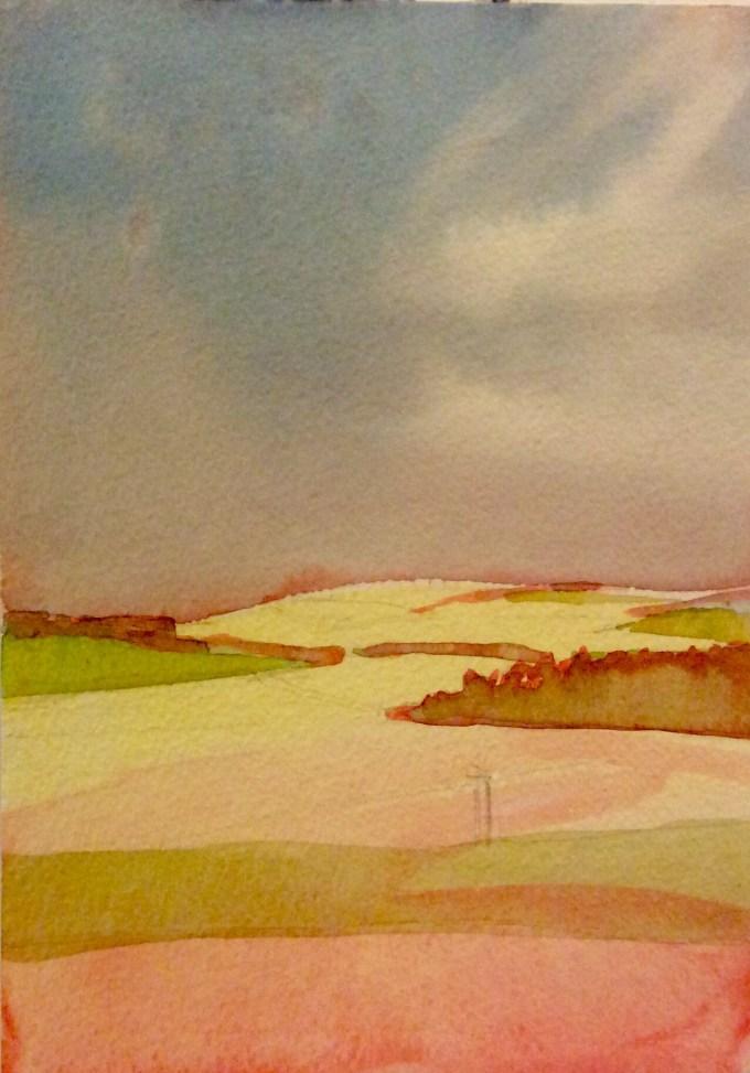 Watercolour, 22 x 11 cm