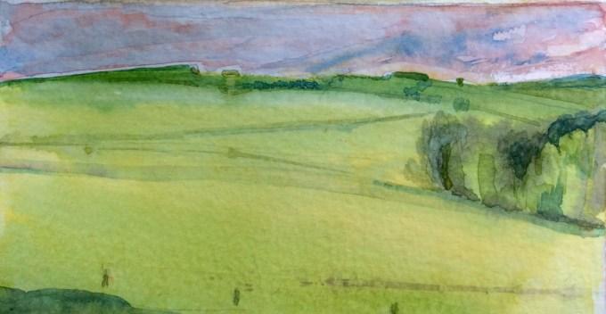 Watercolour , 10 x 5 cm