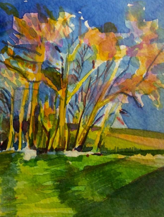 Watercolour, 12.5 x17.8m