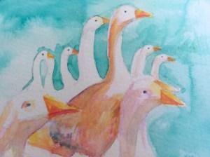 Watercolour, 11 x15 cm