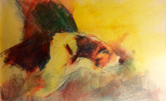 Watercolour, 10x 5cm