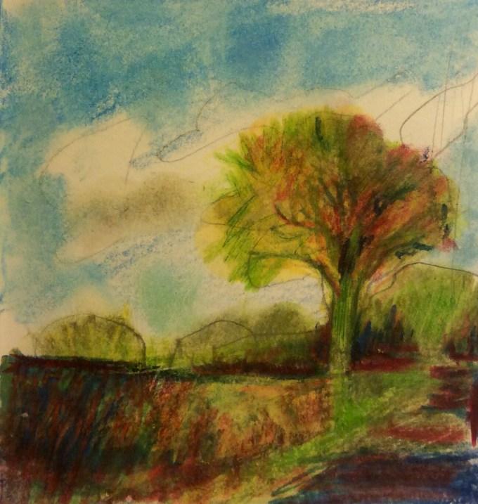 Watercolour, 10 x 5. cm