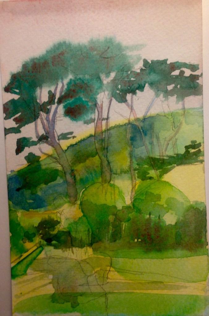 Watercolour, 15 X11 cm