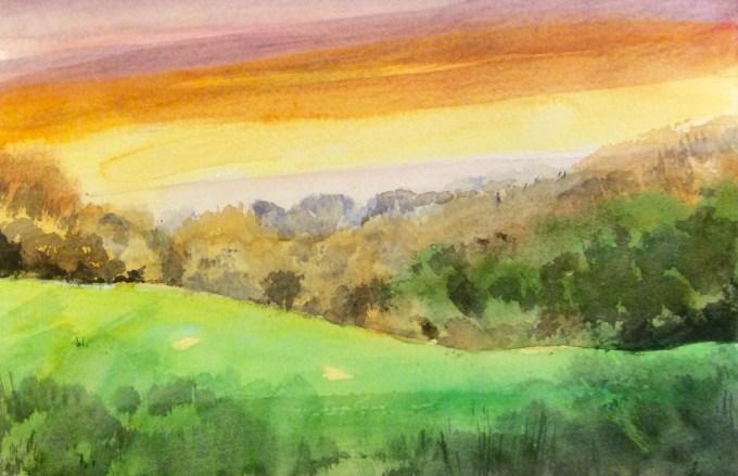 Watercolour, 15 x 22 cm
