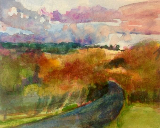 Watercolour, 15x11 cm