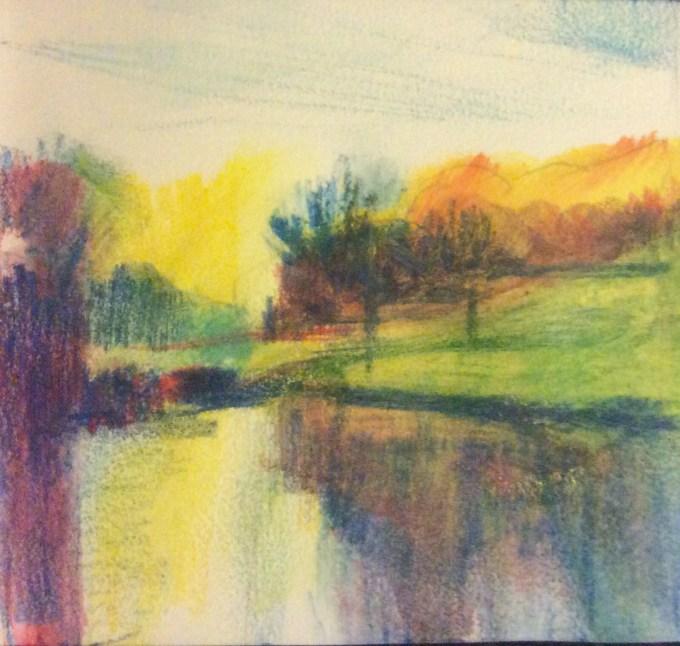 Watercolour, 10 x 10 cm