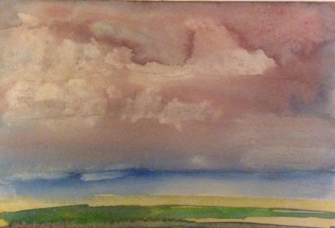 Vale, watercolour, 15 x 11 cm