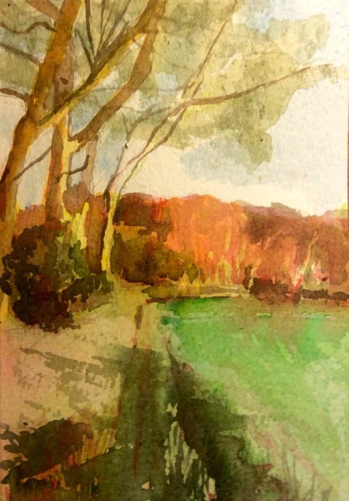 Watercolour, 11 x 15 cm