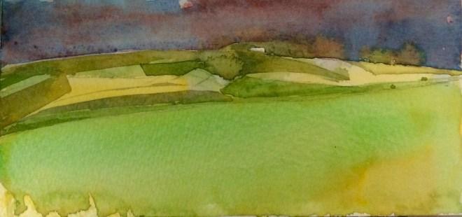Clouds, Deverills, Watercolour, 15 x 11 cm