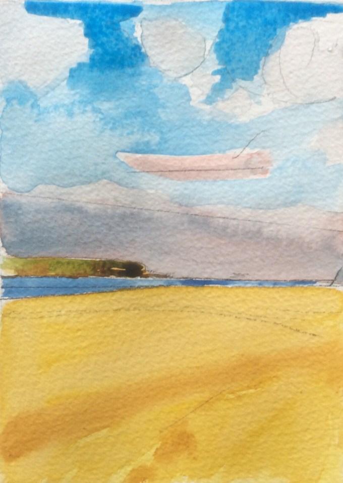 Brisk Walk, Daymer Bay, 15 x 11 cm