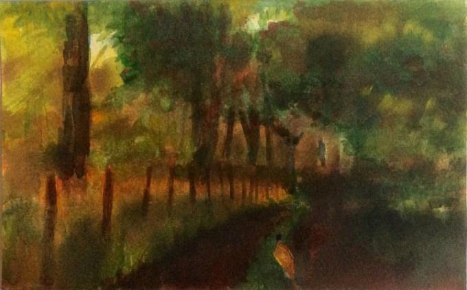 Pheasant, watercolour, 15 x 22 cm