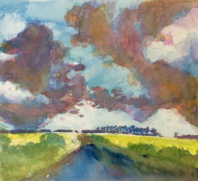 Field, Watercolour, 15x11cm