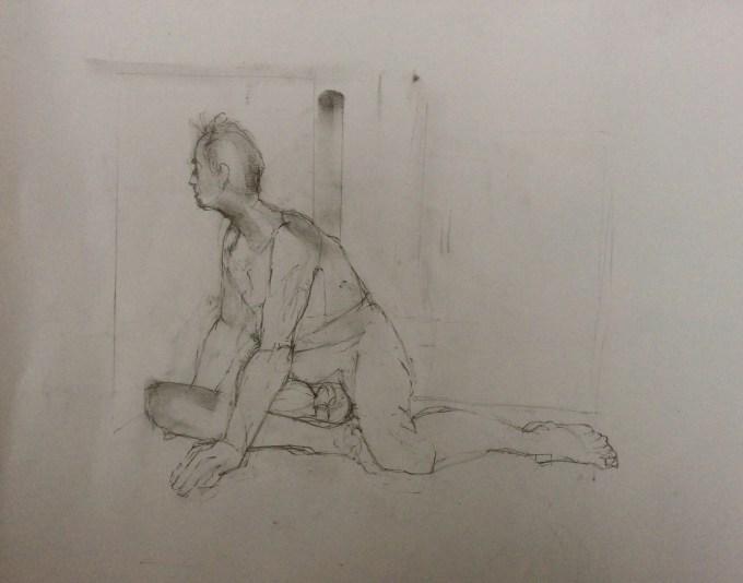 David, Charcoal and Pencil.