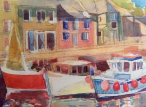 Padstow, watercolour 18 x 15 cm