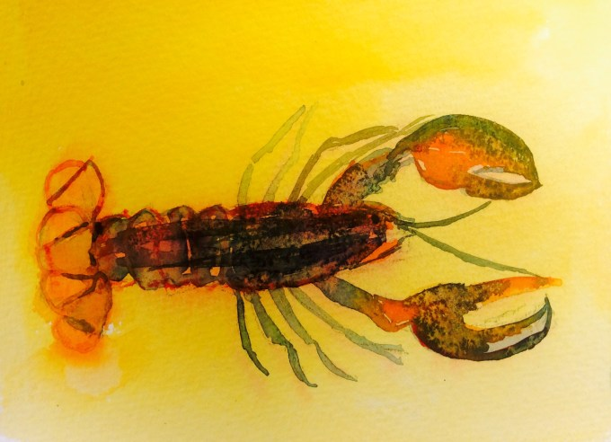 Underwater, watercolour 12 x 15 cm
