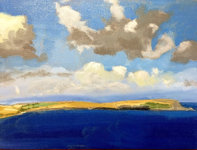 Clouds over Estuary, Daymer Bay.