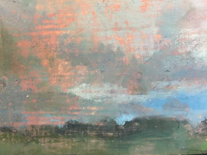 Rain Clouds III, Oil on Board, 12 x 20 cm