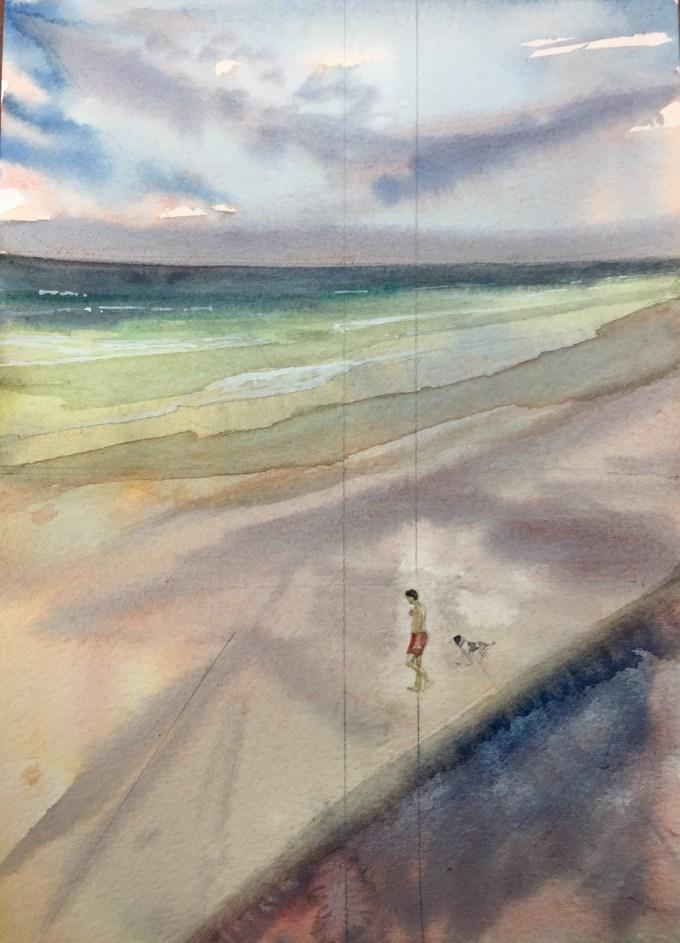 Onto the Beach II, St Ouen, Jersey.