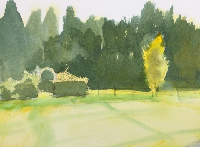 Morning Sun, Watercolour, 22.5 x17.5 cm
