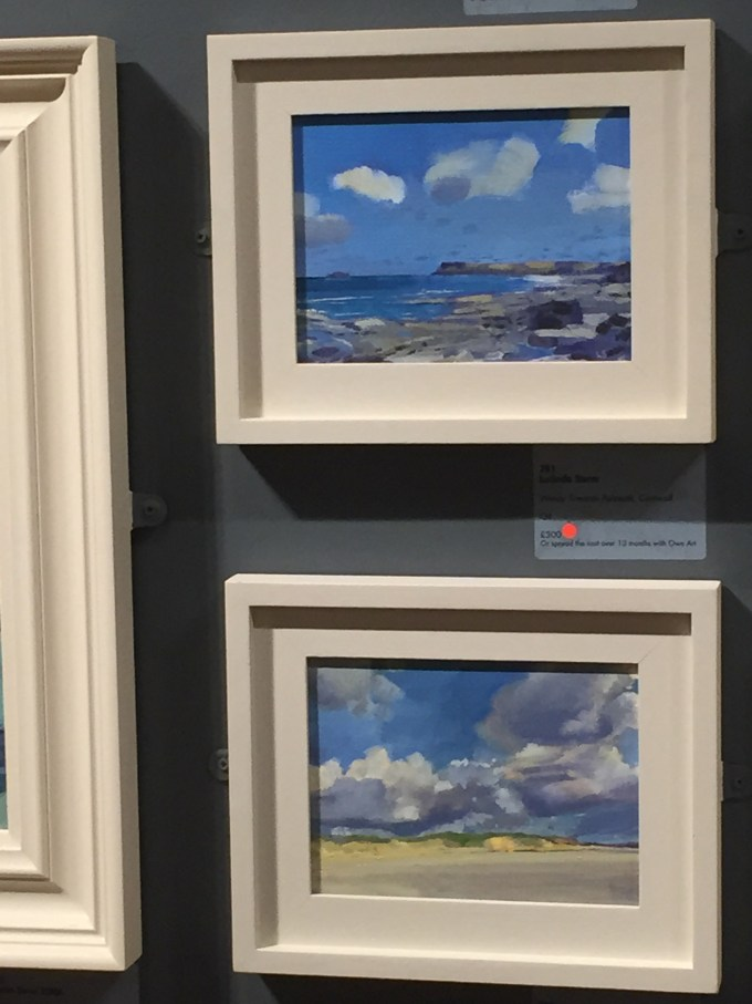 Windy towards Polzeath and Padstow in view at theMall Galleries