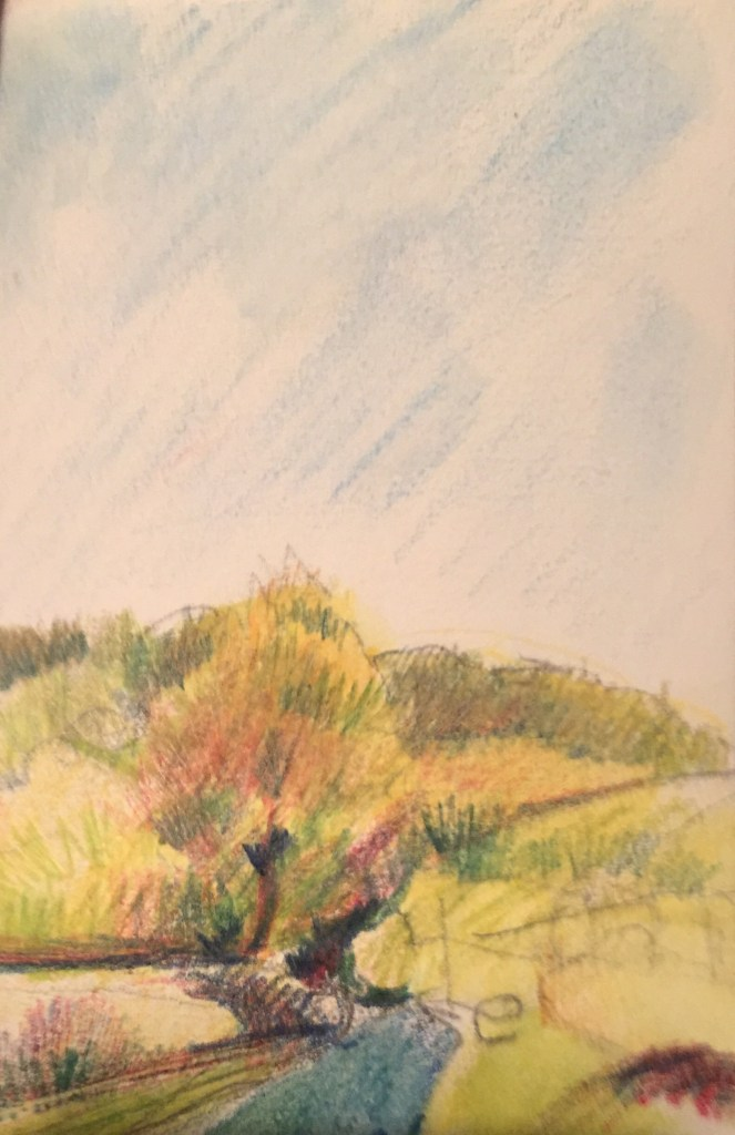 Autumnal Tones, Watercolour, 12 x 5 cm