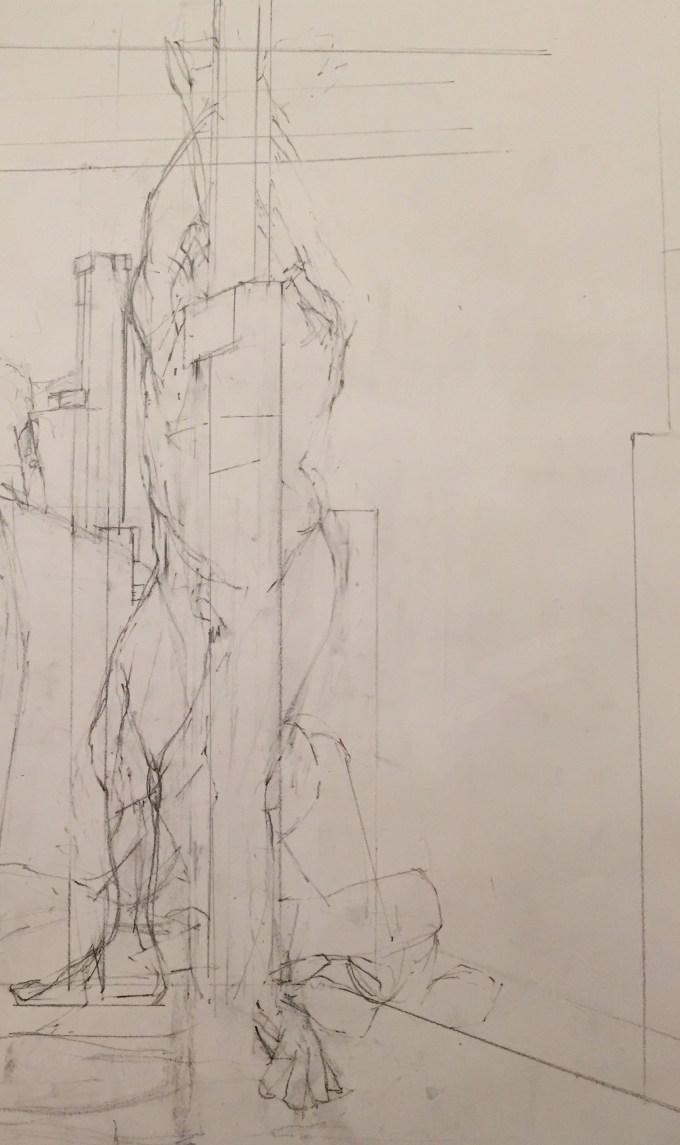 David, graphite on paper.