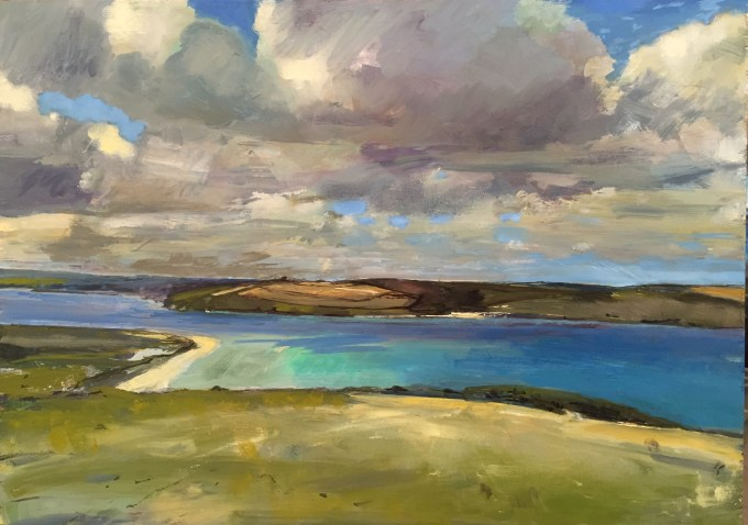 Getting There, Daymer Bay, oil on board, 42 x32 cm