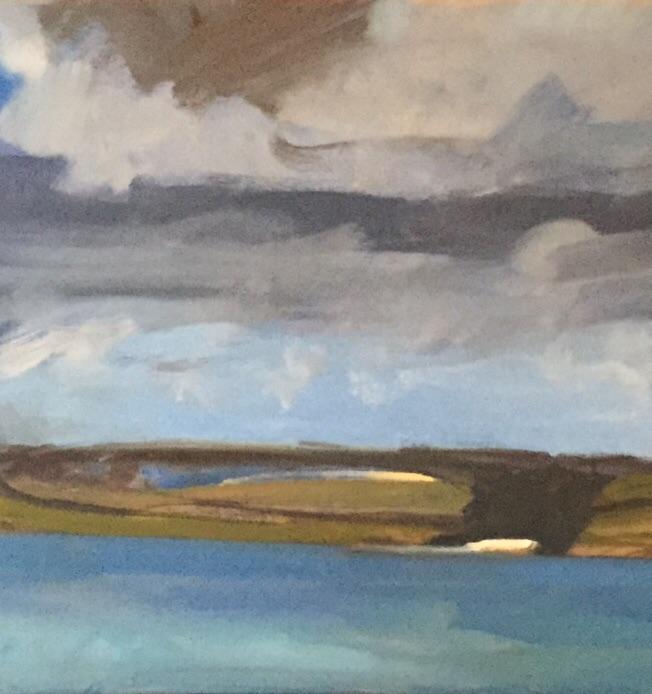 Bright Beach, oil on canvas, detail