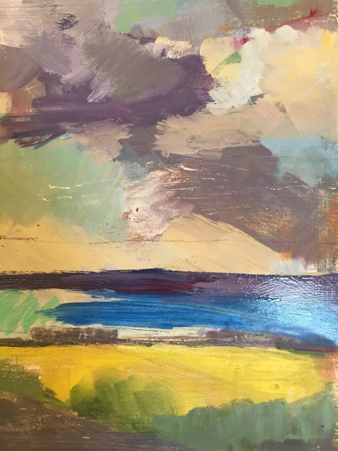 Cloud Study II, Oil on Board