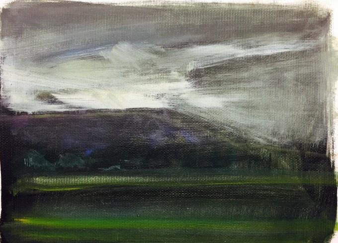Late Evening, oil on Arr, 12x18cm