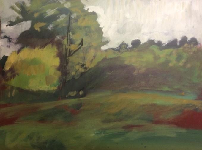 Tree Study, oil on paper, 32 X 22 cm