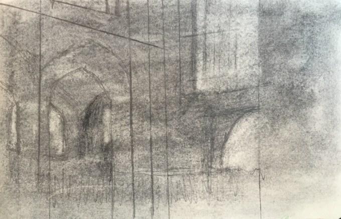 Carol Service Bath Abbey, 12x5cm