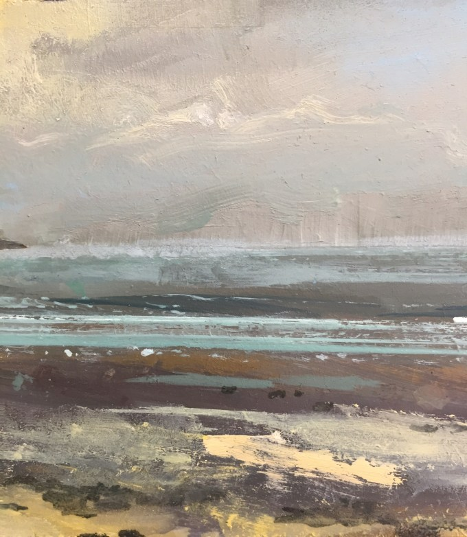 St Ouen, oil on board.