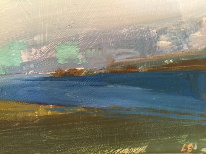 Seascape,,Daymer oil on board.