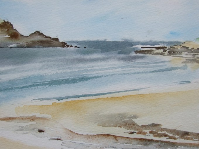 Daymer, watercolour