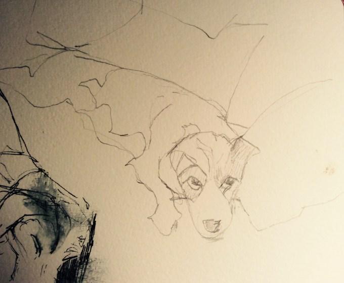 Beloved Pooch, sketch