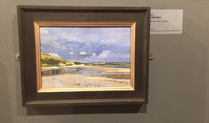 Tide Out, Rock, Cornwall,currently showing at the Mall Galleries, London