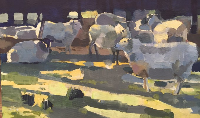 Sheep in Winter II
