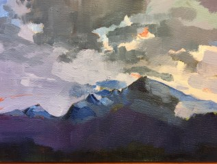 Alps, Waiting for Snow, 18x13cm,preselected for NEAC Annual Open Exhibition 2017, Mall Galleries, London.