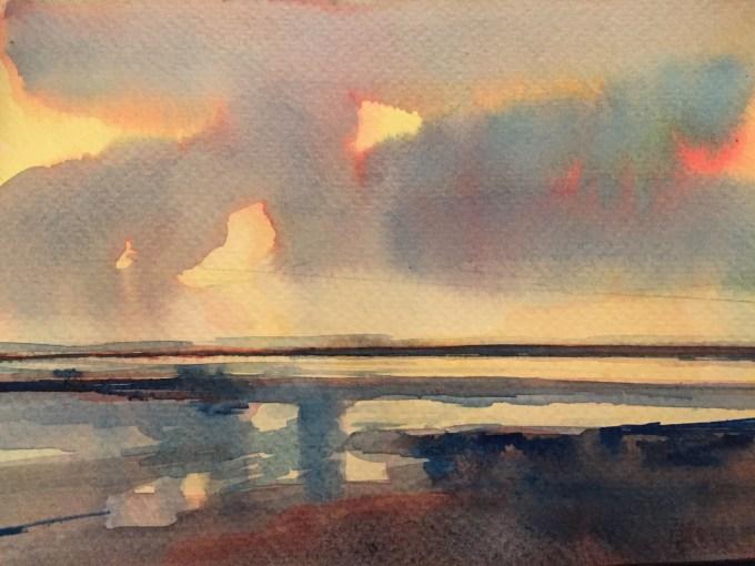 Lemon Sunset, Saunton Sands,Winter.