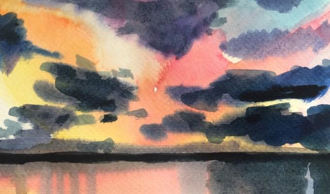 Sunset, Daymer Bay, Cornwall
