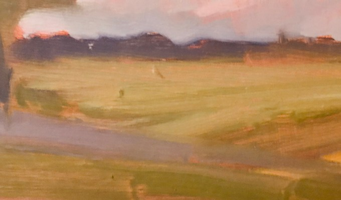 East Knoyle sunset, detail