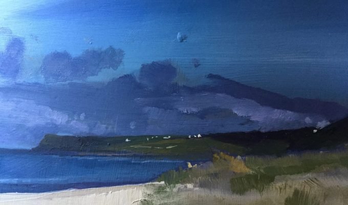 Pentire from Daymer, detail