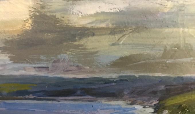 Towards Padstow, Oil sketch