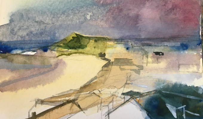Watercolour sketch, St Ives