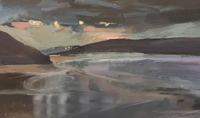 """Mist at Daymer, Cornwall"" and ""Lights Twinkling at Padstow"" : Preselected for New English Art Club Annual Open Exhibition 2020."
