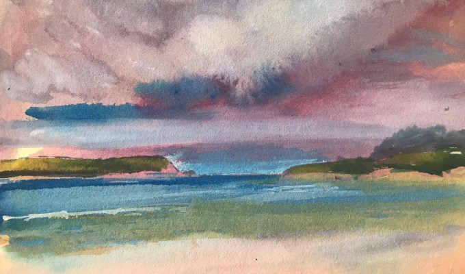 Balmy Pinkish Clouds, Daymer Bay, Cornwall