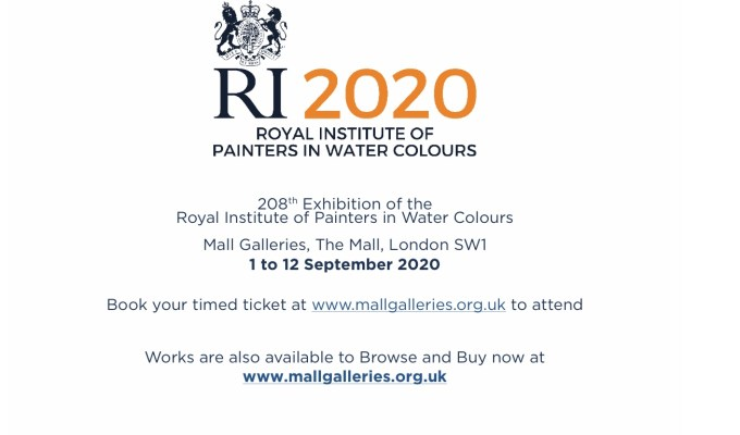 Last day of The 208th Royal Institute of Painters in Watercolour Annual Open Exhibition 2020