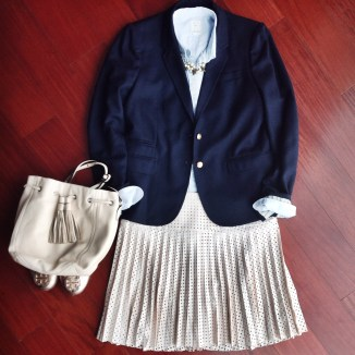 Navy blazers go with anything.
